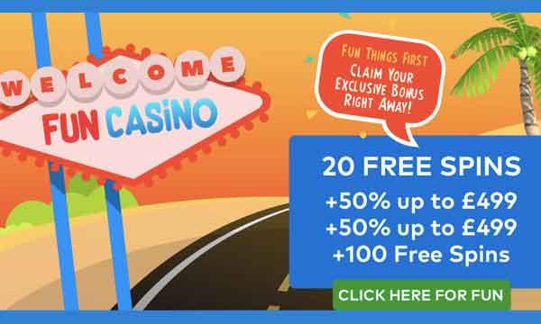 Fun Casino Bonus Claim 20 Free Spins No Deposit On Sign Up