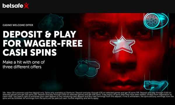 Betsafe Casino Bonus Claim 200 Wager Free Cash Spins On Starburst