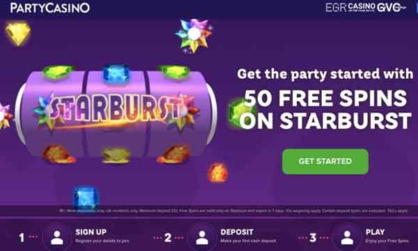 party casino low wager bonus
