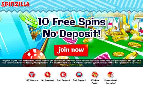 Spinzilla Casino Bonus Claim 10 Free Spins No Deposit Bonus