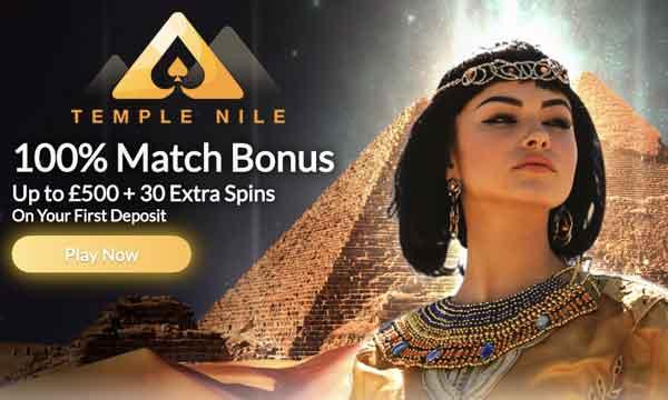 temple nile 100% casino bonus