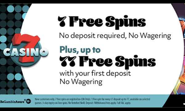 7 Spins No Deposit Bonus