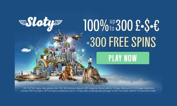 sloty free spins bonus