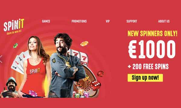 spinit casino 200 free spins bonus