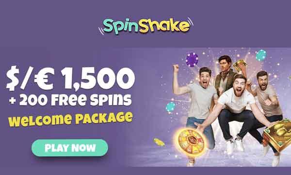 spinshake 200 free spins bonus