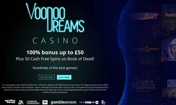 voodoo dreams no wager bonus
