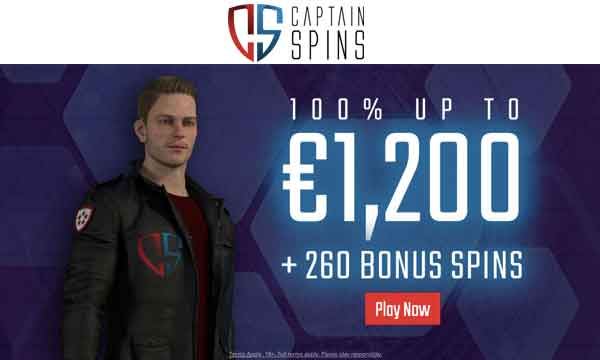 captain spins welcome bonus