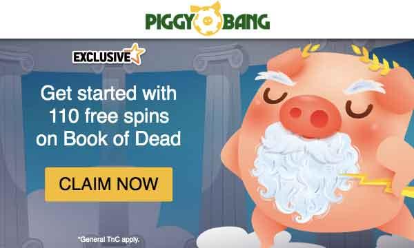 piggy bang 110 free spins no wager