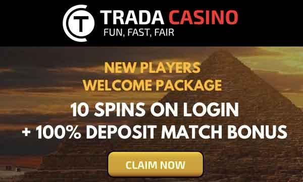 trada casino welcome package